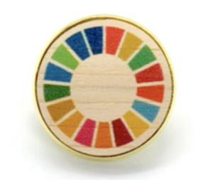 SDGsバッッジ 木製 小さい